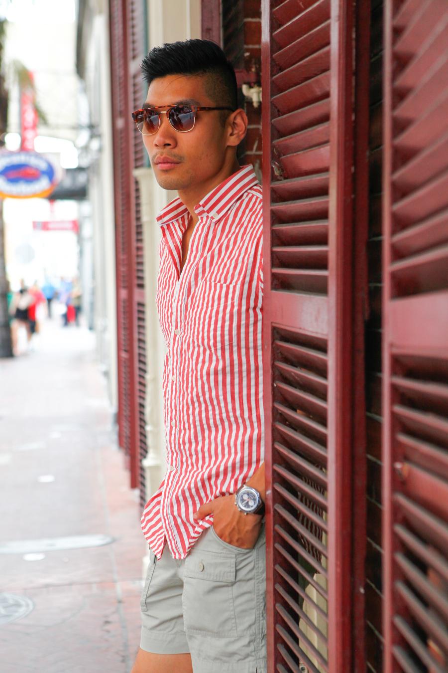 Levitate Style Gordon Rush City - New Orleans   Gordon Rush Liverpool Chukka Sneaker, Haspel Seersucker Shirt, menswear, Leo Chan, Alicia Mara