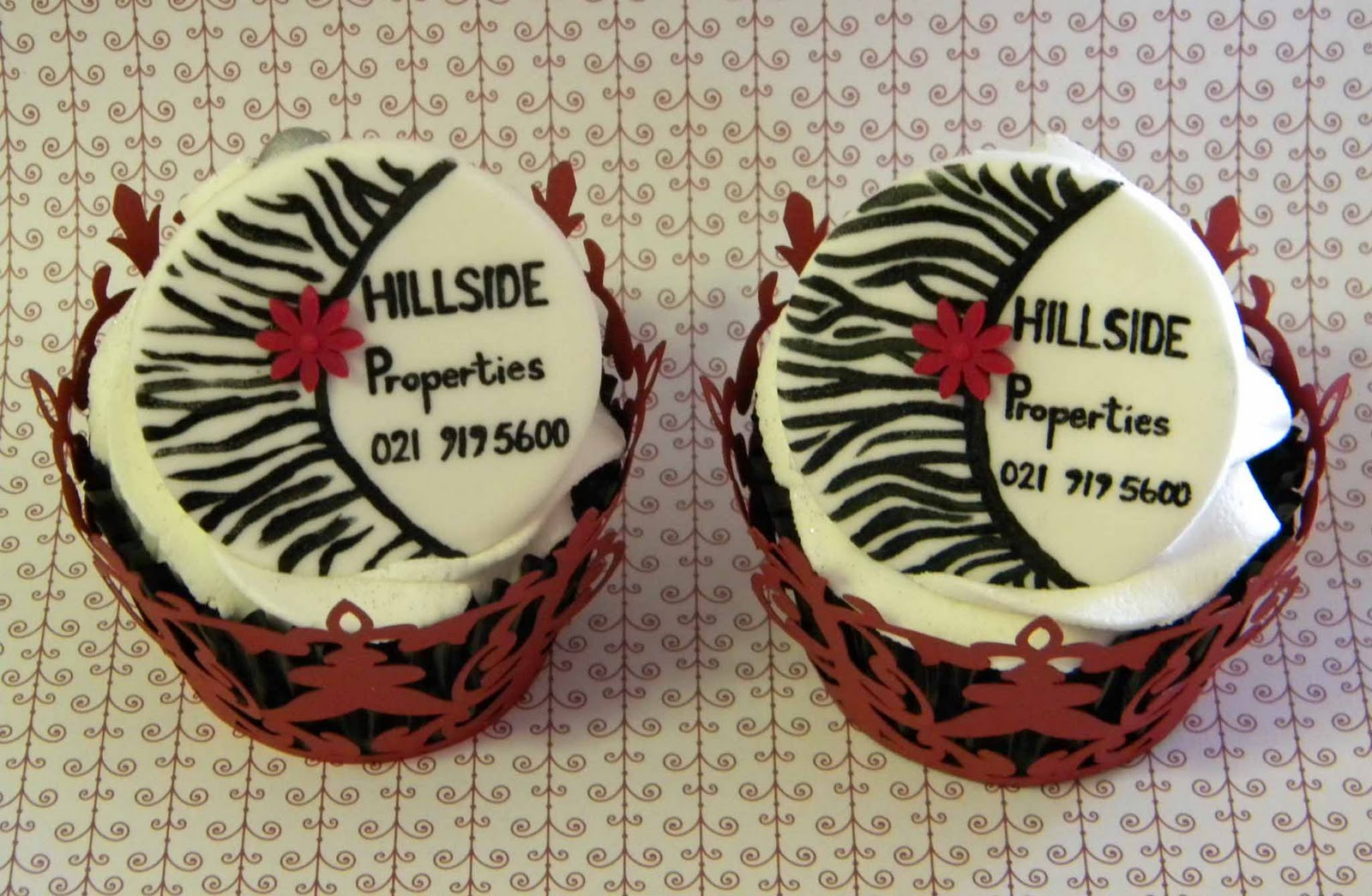 Bite Me Cupcakes And Wrappers Edible Business Cards