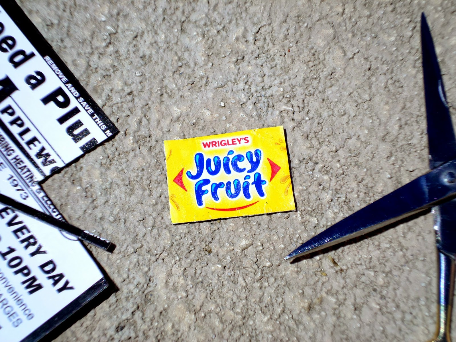 Summer Fun Juicy Fruit Gum Upcycled Wrapper Magnet Cut #JuicyFruitFunSide #shop