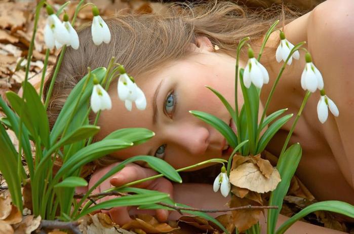 Фото девушки с красивыми глазами - блог Вышень