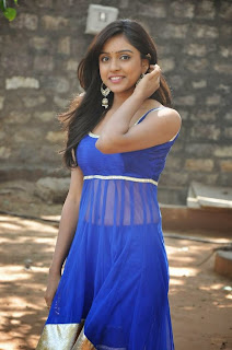 Actress Vithika Sheru Latest Pictures in Blue Salwar Kameez at Paddanandi Premalo Mari Movie First Look Launch 18