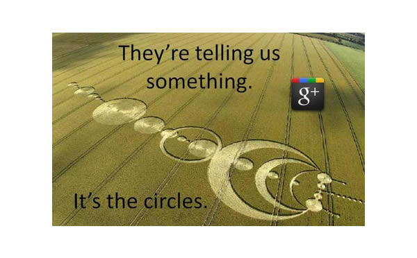 Google Plus Funny Images: Crop Circles