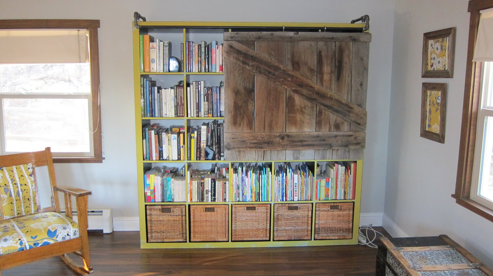 expedit bookshelf turned rustic tv cabinet bookshelf get home decorating. Black Bedroom Furniture Sets. Home Design Ideas