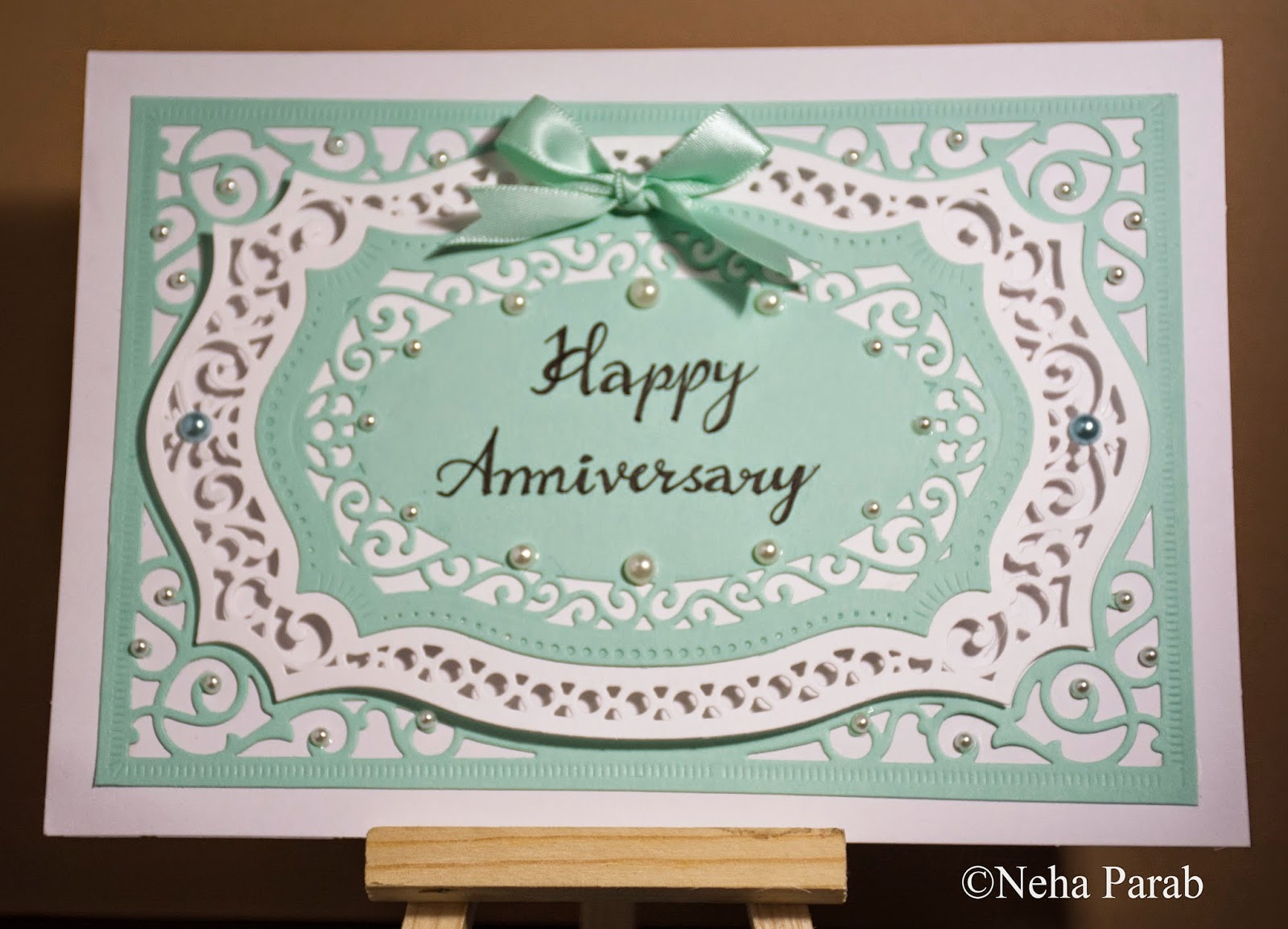 Completely handmade : happy anniversary card