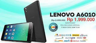 Promo Lenovo A6010 Rp 1.999.000