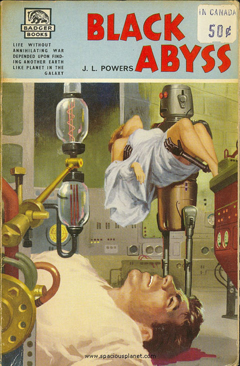 awesome classic sci-fi book cover J.L. Powers Black Abyss