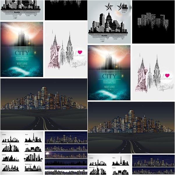 ملفات فيكتور مدن العالم متنوعة بصيغة EPS