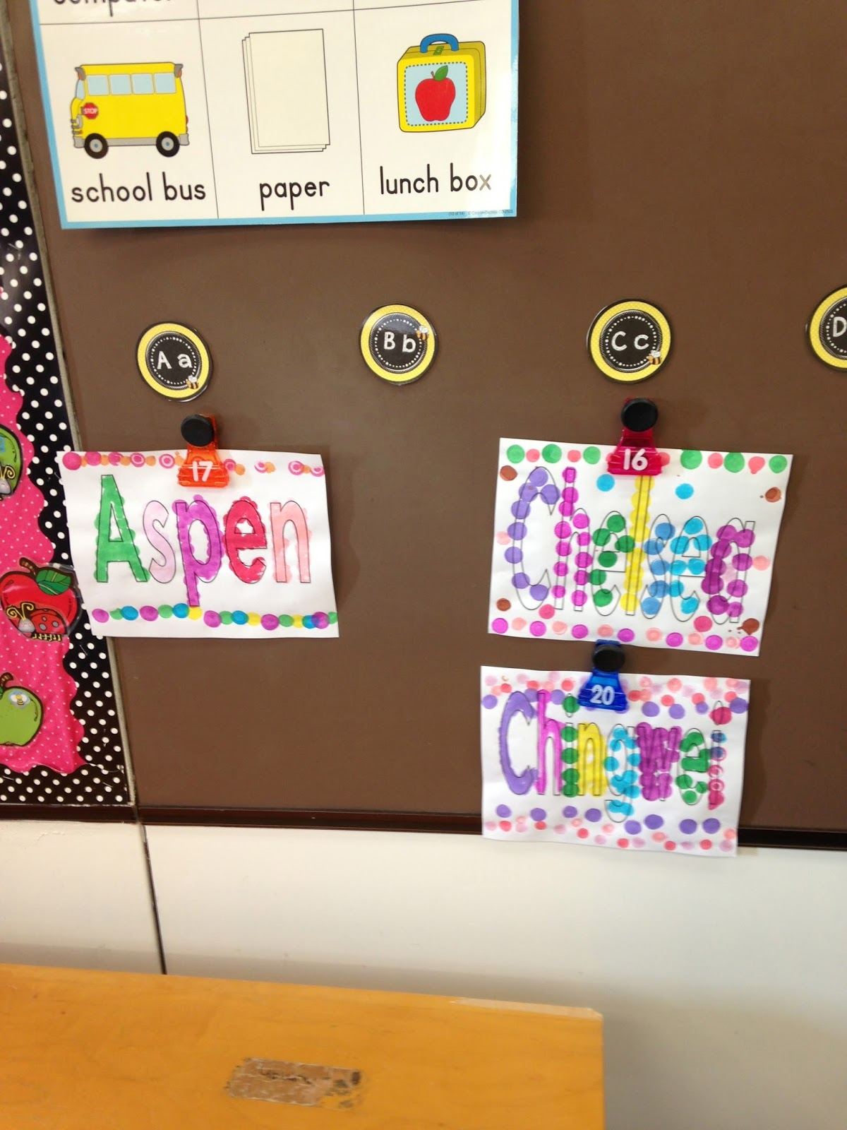 the kindergarten teacher the third week of kindergarten and a