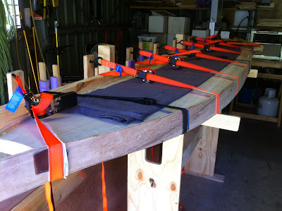 wood surfboard rail jig