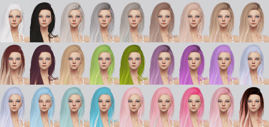 My Sims 4 Blog Stealthic Aquaria Hair Retexture By KalewaA