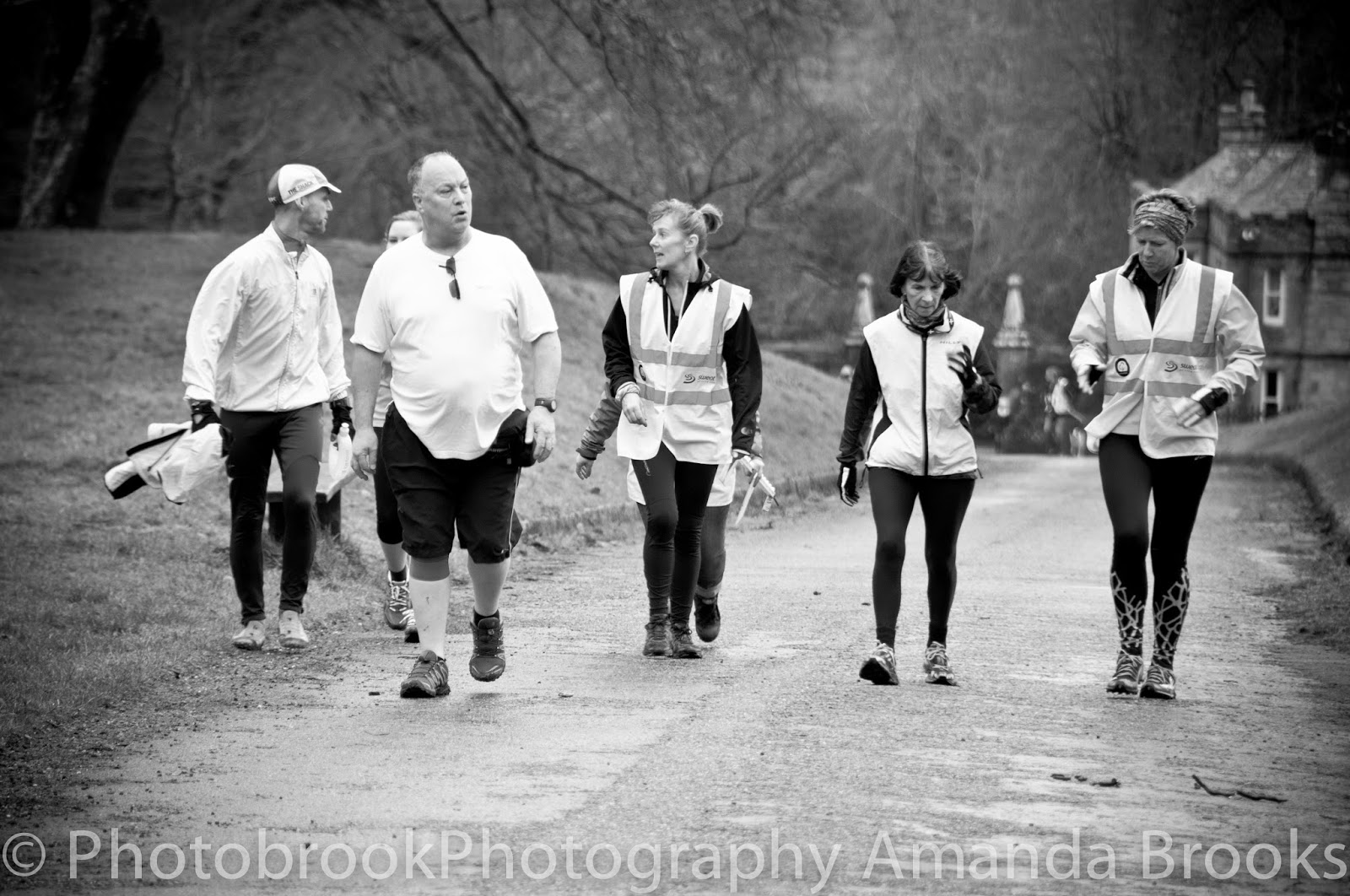 Volunteers and tail runners at Park Run