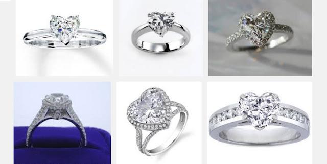 Heart Shaped Diamond Rings