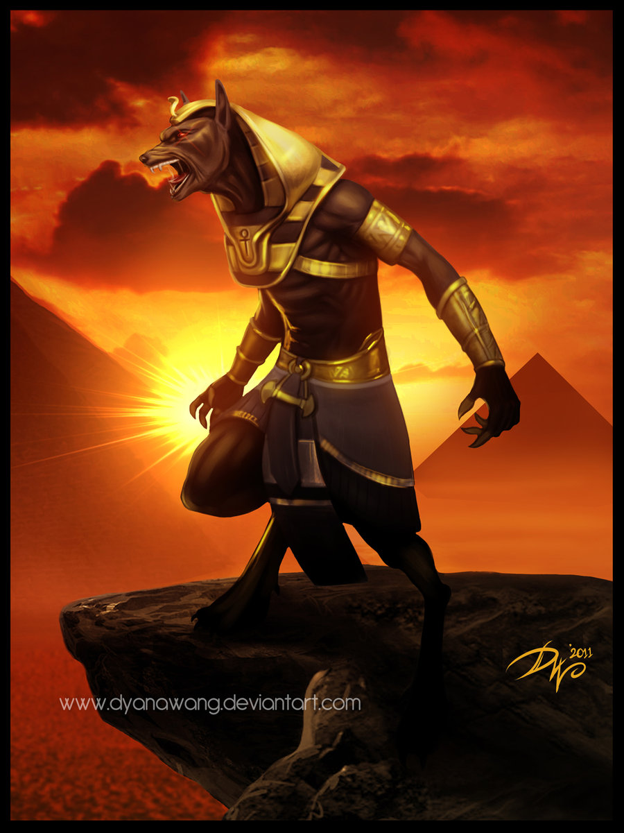Chekydot Studio: Anubis & The Huntress Fan Art~