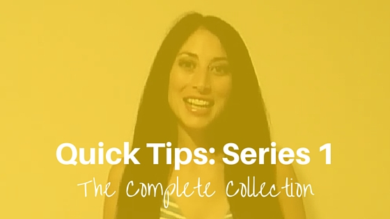 Quick Tips Series 1: The Complete Collection #Tips #Authors #QuickTips @JoLinsdell