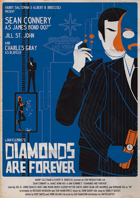 ok ok no Diamonds are Forever James Bond Sean Connery Movie Poster