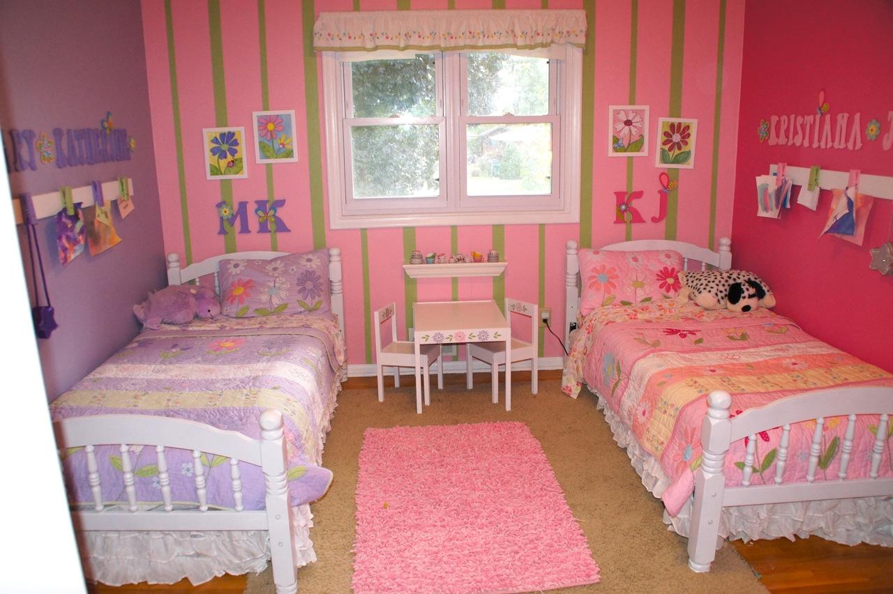 Girls Shared Bedroom Flower Theme The Kid Friendly Home