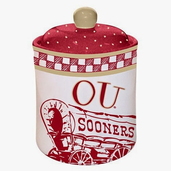 Oklahoma Sooners NCAA Ceramic Cookie Jar