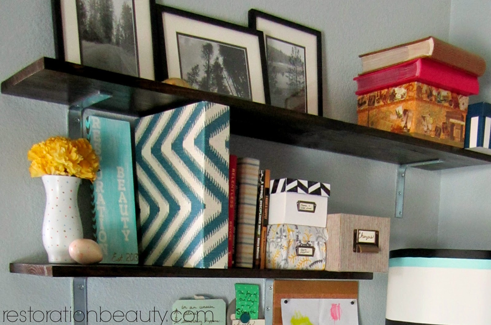 Restoration Beauty: How To Organize A Small Office/Work Space {Tips U0026  Tricks}