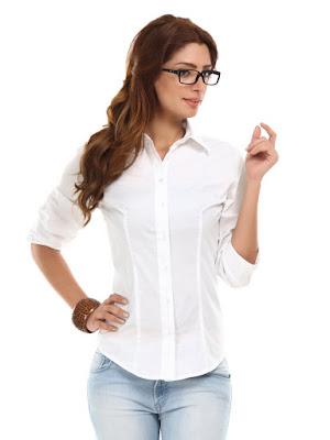 Model Baju Kemeja Warna Putih Wanita