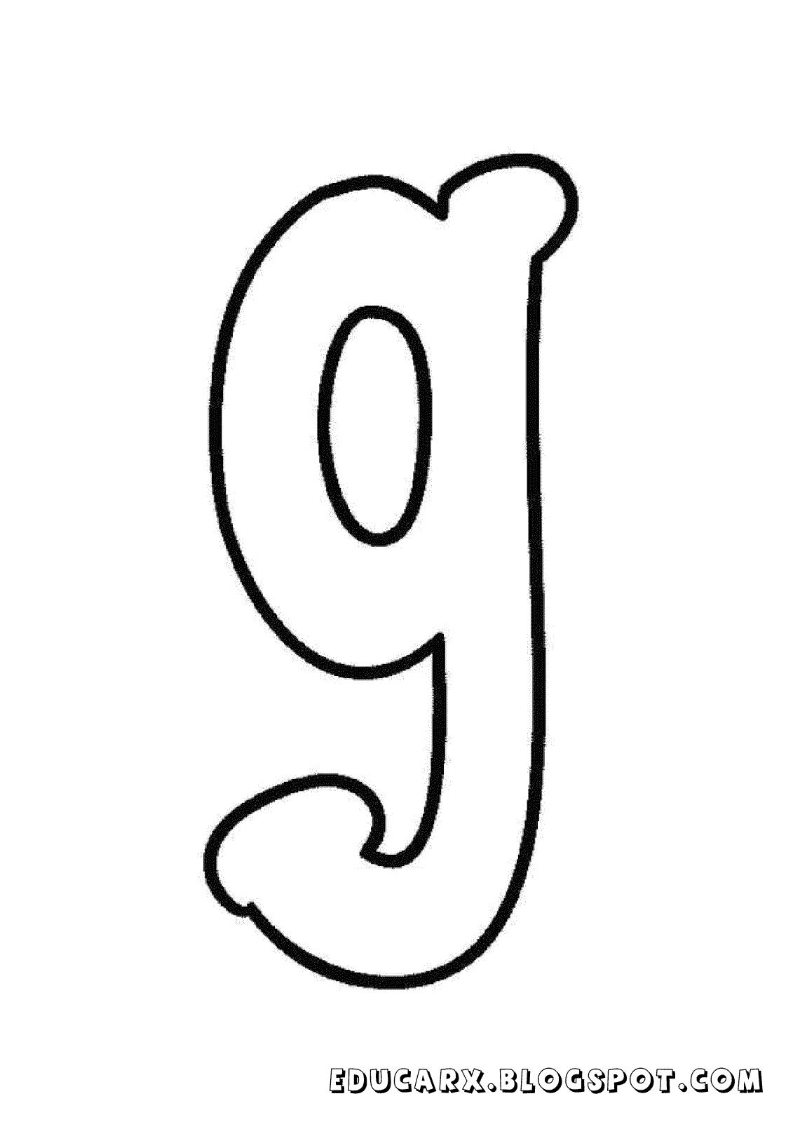 Molde da letra minuscula g