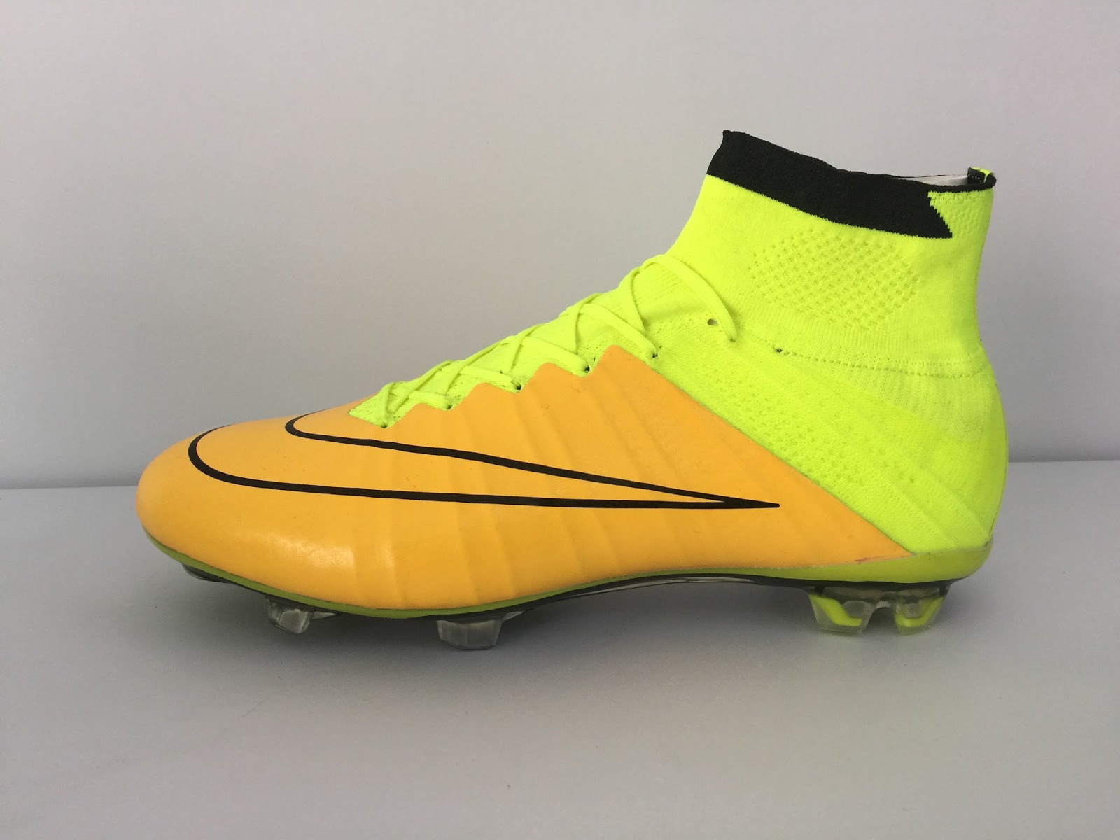 2015 new release Nike Mercurial Superfly IV FG K-Leather Golden Volt e634bebd86