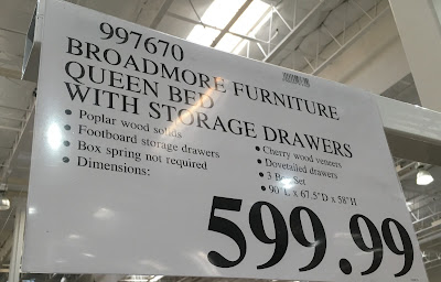 Deal for the Universal Furniture Broadmore Queen Bed with Storage Drawer at Costco