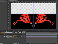 The Leash Comp with the image layout in Adobe After Effects.