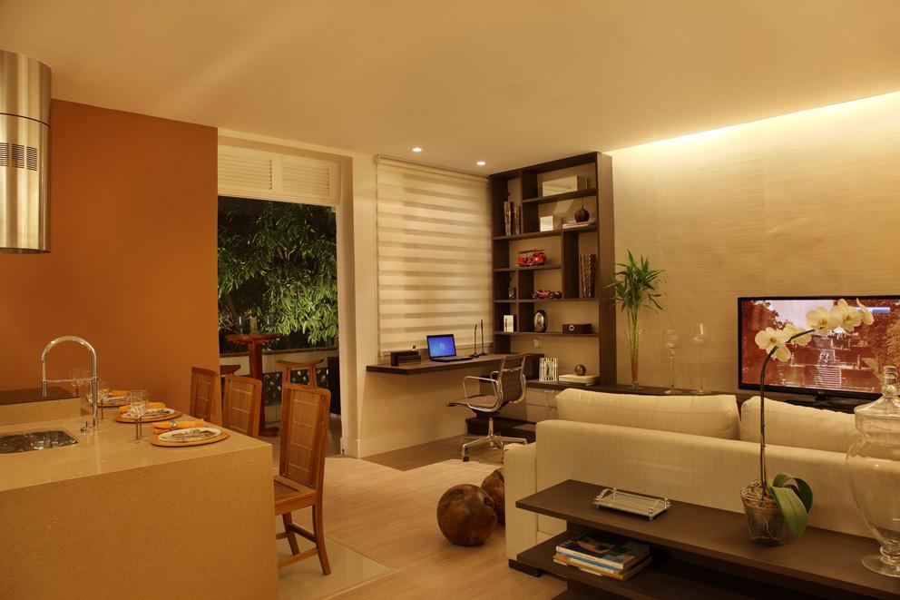 decoracao de sala e cozinha juntas simples – Doitricom # Sala E Cozinha Pequena Juntas
