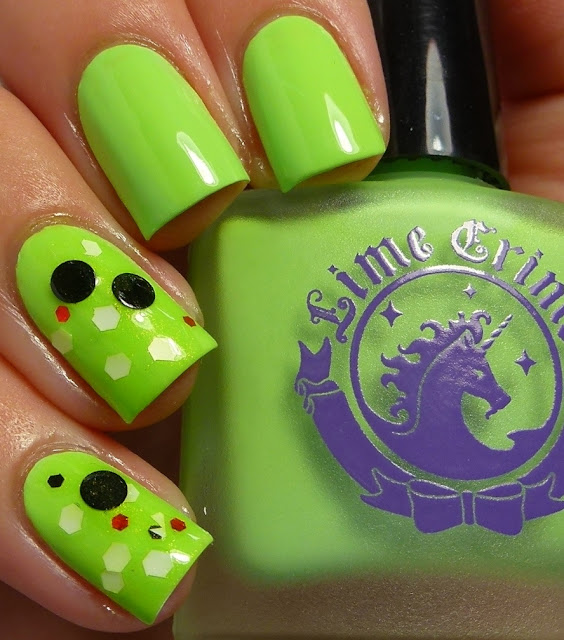 Lime Crime Pastelchio, Whimsical Nail Polish by Pam Wicked, swatch