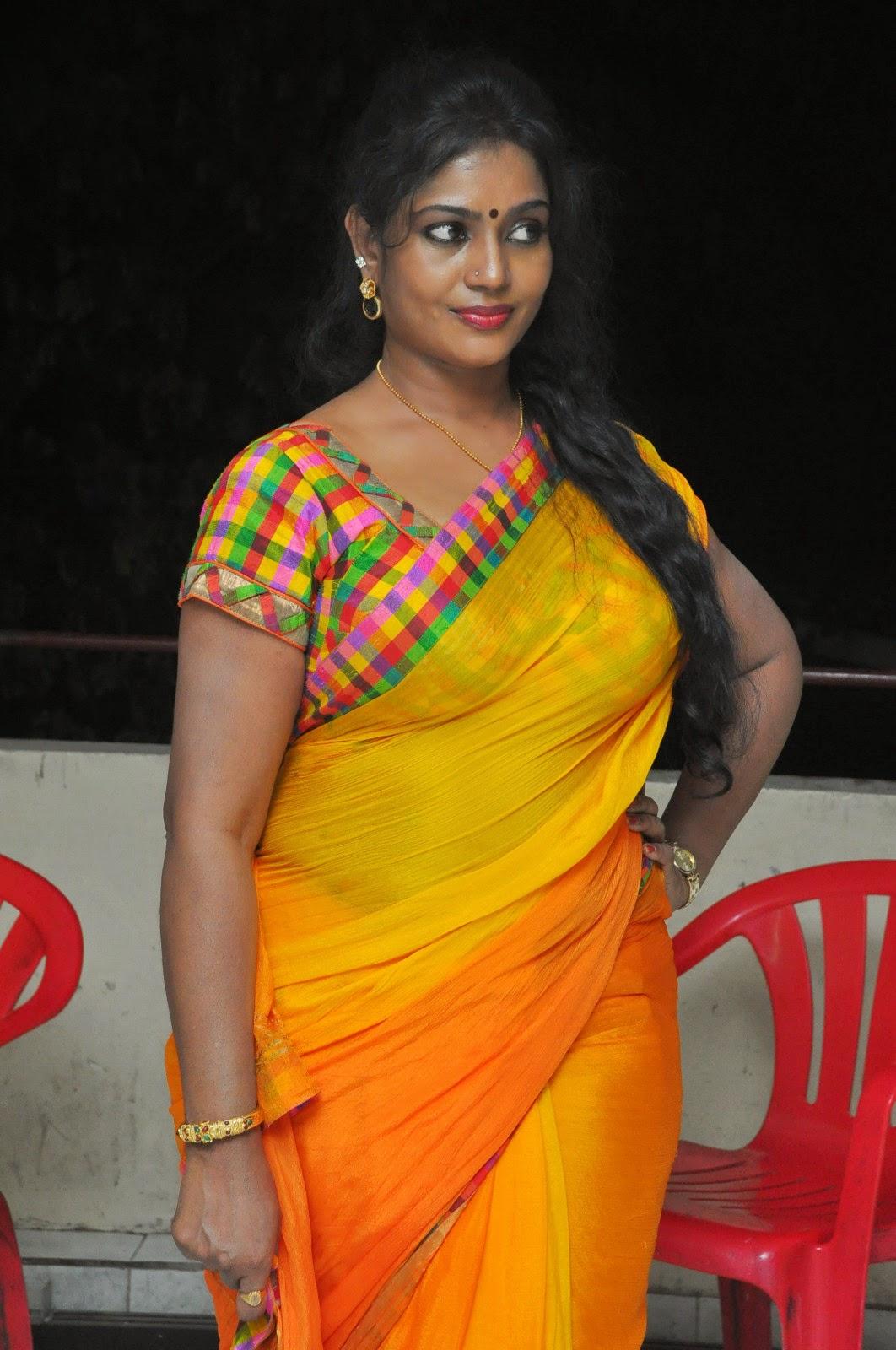 Jayavani glam pics in saree-HQ-Photo-4
