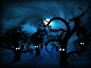 Blue Darkness Dark Gothic Wallpaper