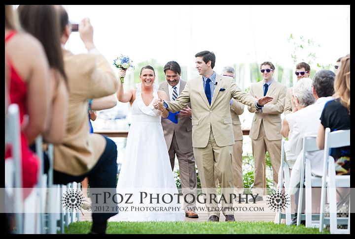 Waterfront Wedding Ceremony Port Annapolis Marina Wedding