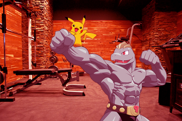 Machoke and Pikachu