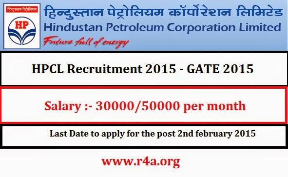 HPCL Recruitment 2015 - GATE 2015