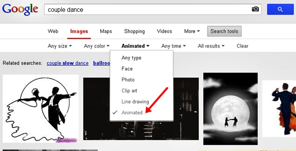 Google Image Search - Animated Gifs