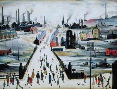 Laurence Stephen Lowry - The Canal Bridge