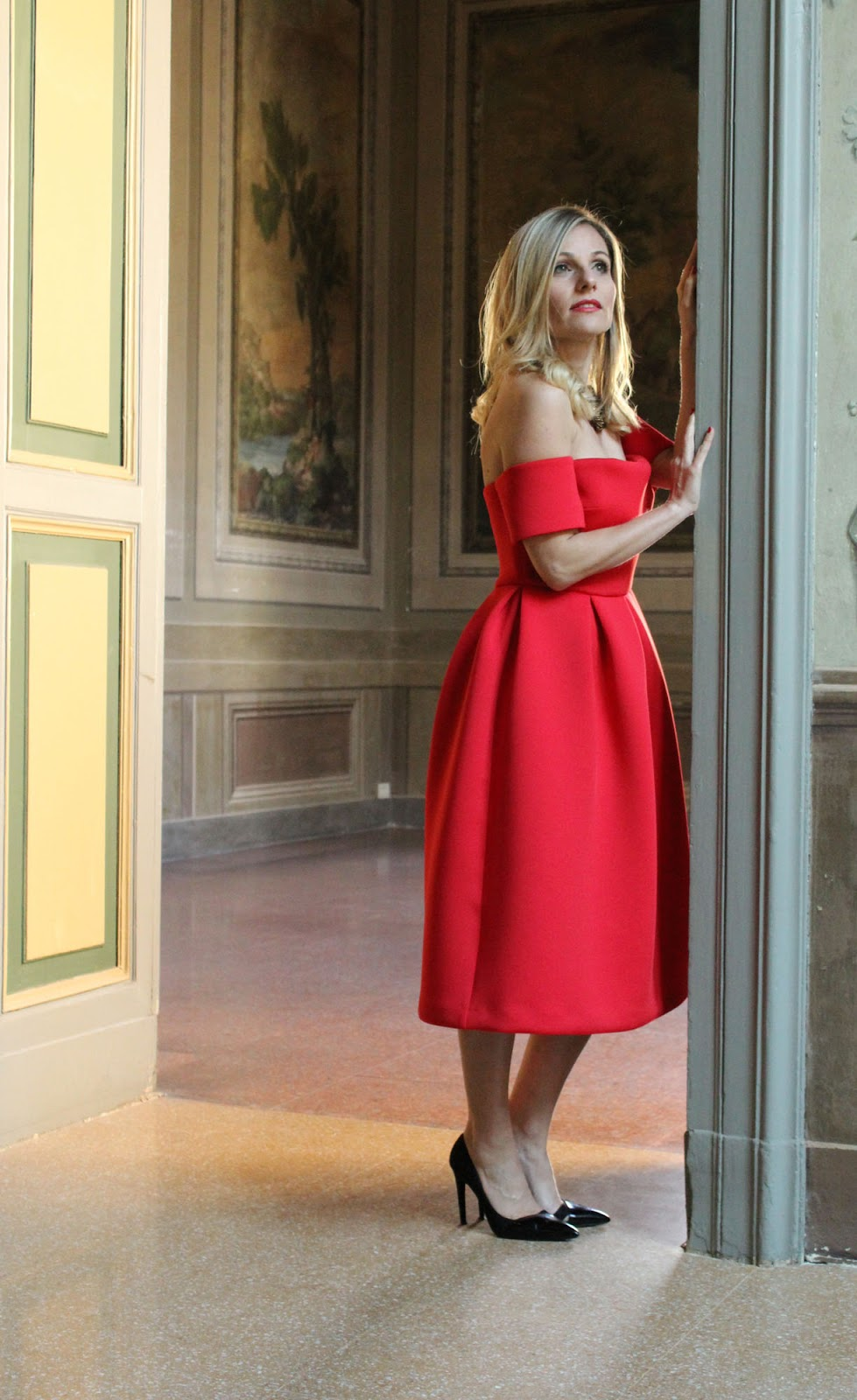 Eniwhere Fashion - Sheinside red dress