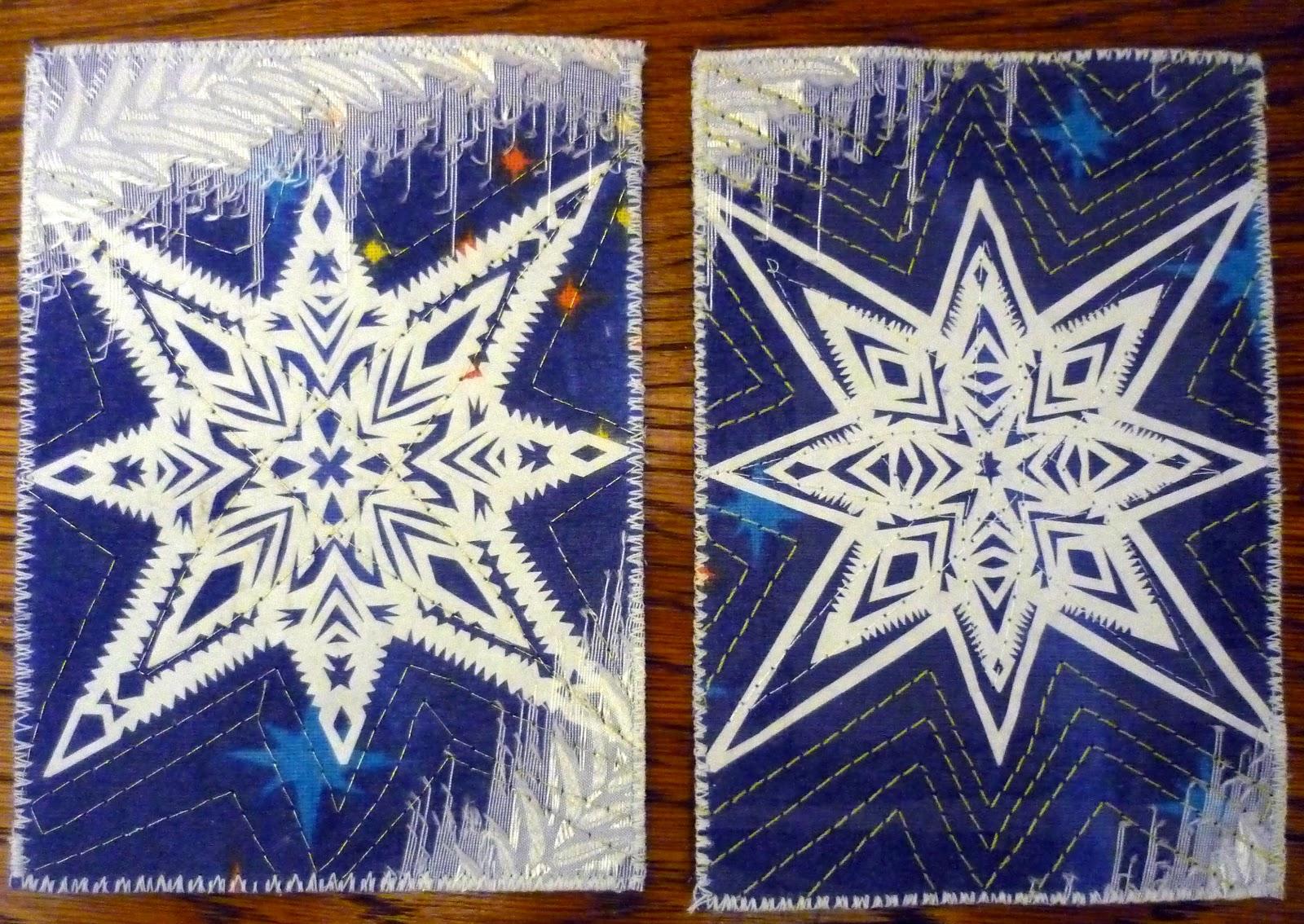 Снежинка открытка