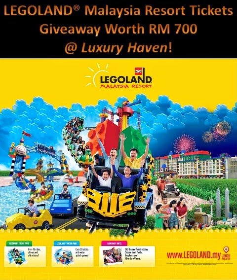 LEGOLAND Malaysia Resort Tickets Giveaway Worth RM 700!