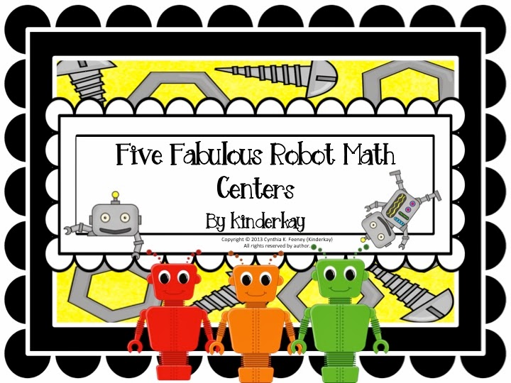 http://www.teacherspayteachers.com/Product/Five-Fabulous-Robot-Math-Centers-690990