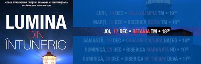 Concert de colinde la Biserica Betania Timisoara - 17 decembrie