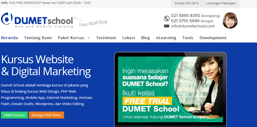 KURSUS WEBSITE DAN DIGITAL MARKETING