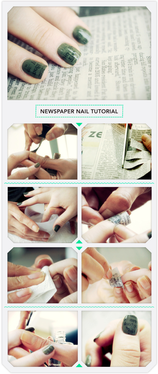 Newspaper nails tutorial!