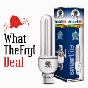 Buy Wipro Smart Lite CFL 15W at Rs.99  from Pepperfry