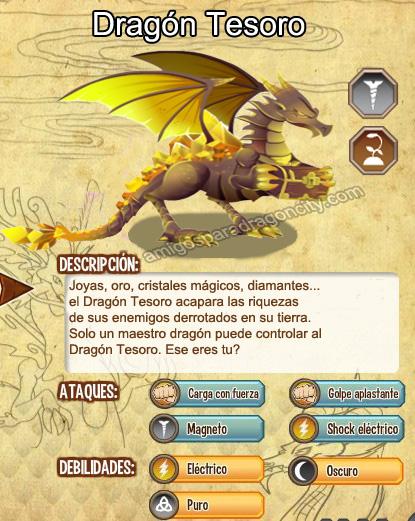 imagen del dragon tesoro y sus aracteristicas