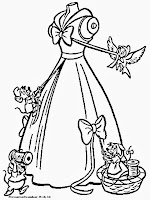 Mewarnai Gambar Gaun Pengantin Cinderella