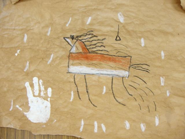 Caveman Art Project : Thomas elementary art st grade cave drawings