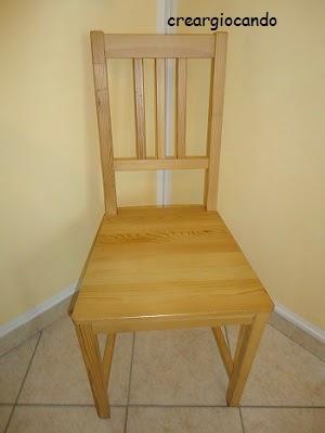 Creargiocando paint your life sedie rinnovate - Progetto bagno 2x2 ...
