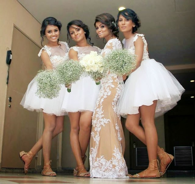 Bhagya Hettiarachchi Wedding Bridesmaids hot