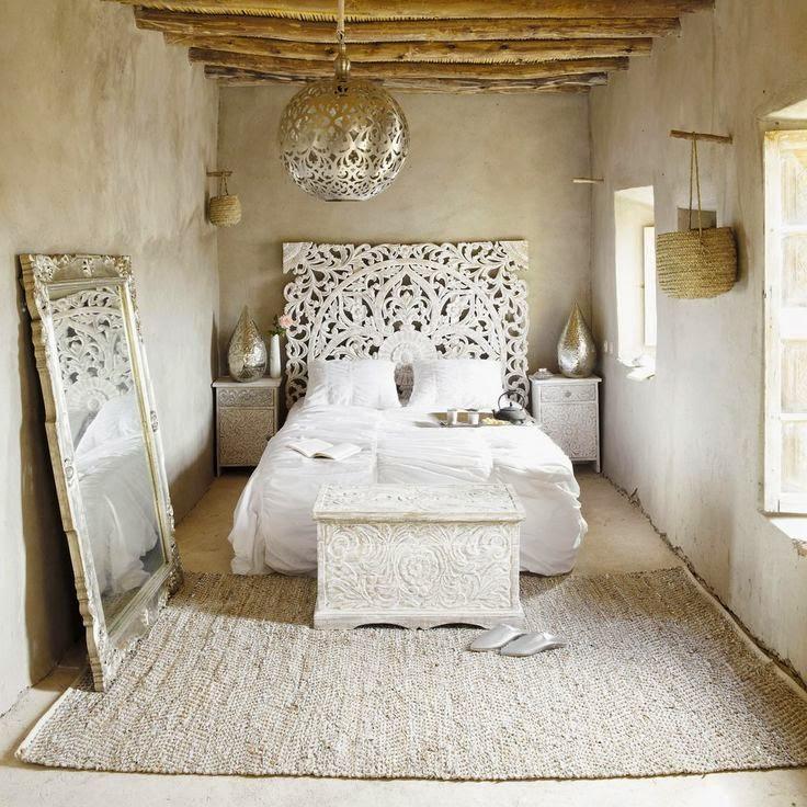 Dormitorio Hippie ~ Hippie Hour HIPPIE DECO WHITE BEDROOM